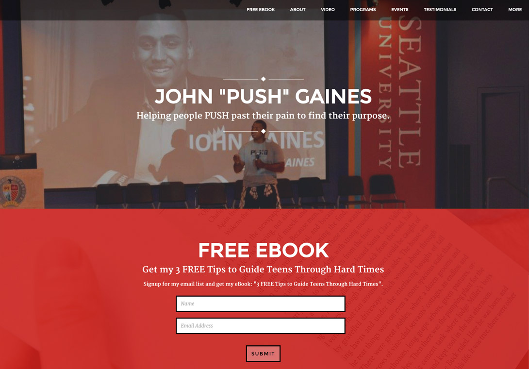 John Push Gaines Brilliant Site